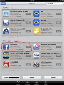 FacebookAppStore