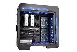 Thermaltake Core V71 full-tower case can be modified for superior liquid cooling or superb airflow through seamless operation