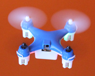 Blue Wallet Drone Square Flying