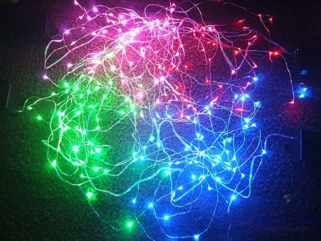 Review of RTGS Four Colors of Micro LED 60 String Lights Technogog