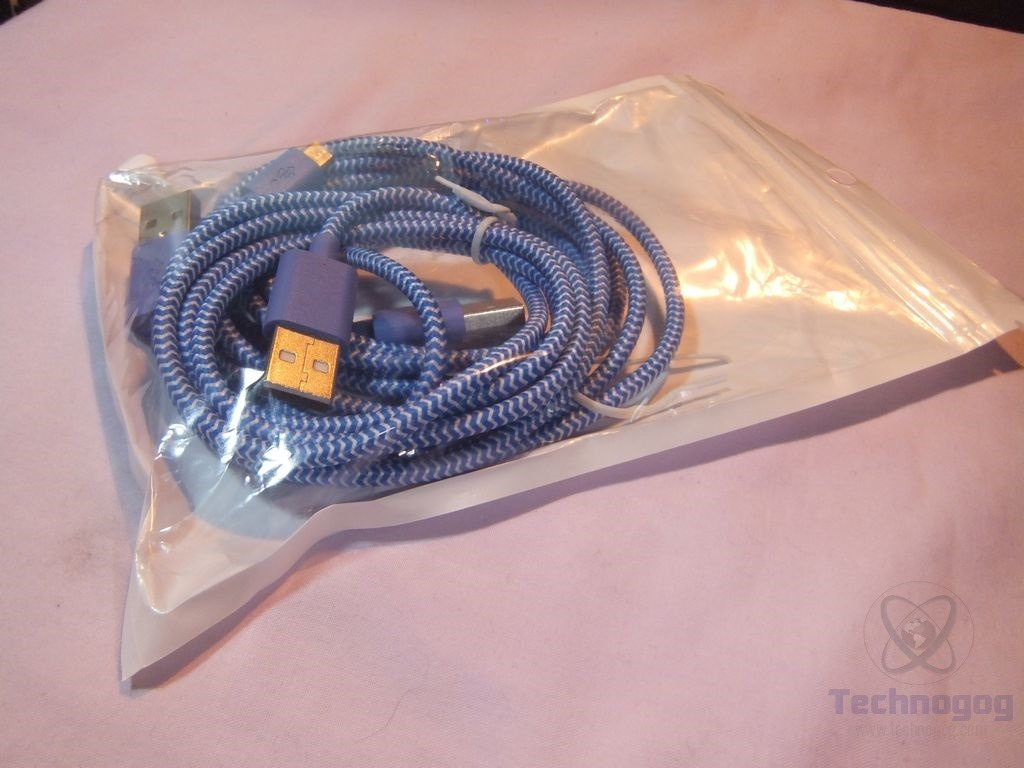 Review Of Iseeker 33ft Braided Microusb Cables Technogog Heat Resistant Wiring The Are A Nylon And Theyre Actually Look Nice For Sure Stiff But Not Really They Flexible Just