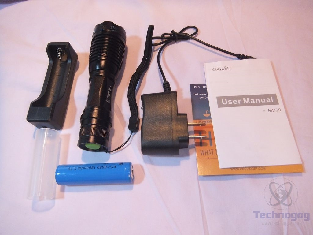 Review of OxyLED MD50 Cree 500 Lumen LED Flashlight ...