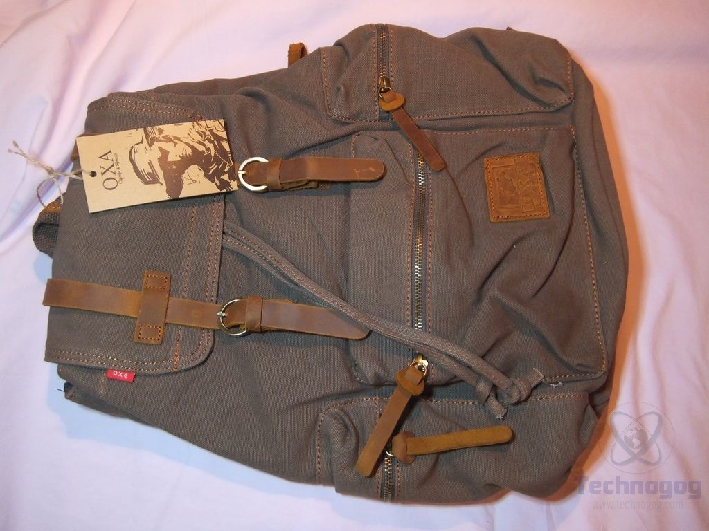 """b2f160028b The bag is made of cotton canvas with leather accents like the zipper pulls  and straps. I measured that bag and it s about 16"""" x 13"""" x7"""" at it s widest  ..."""