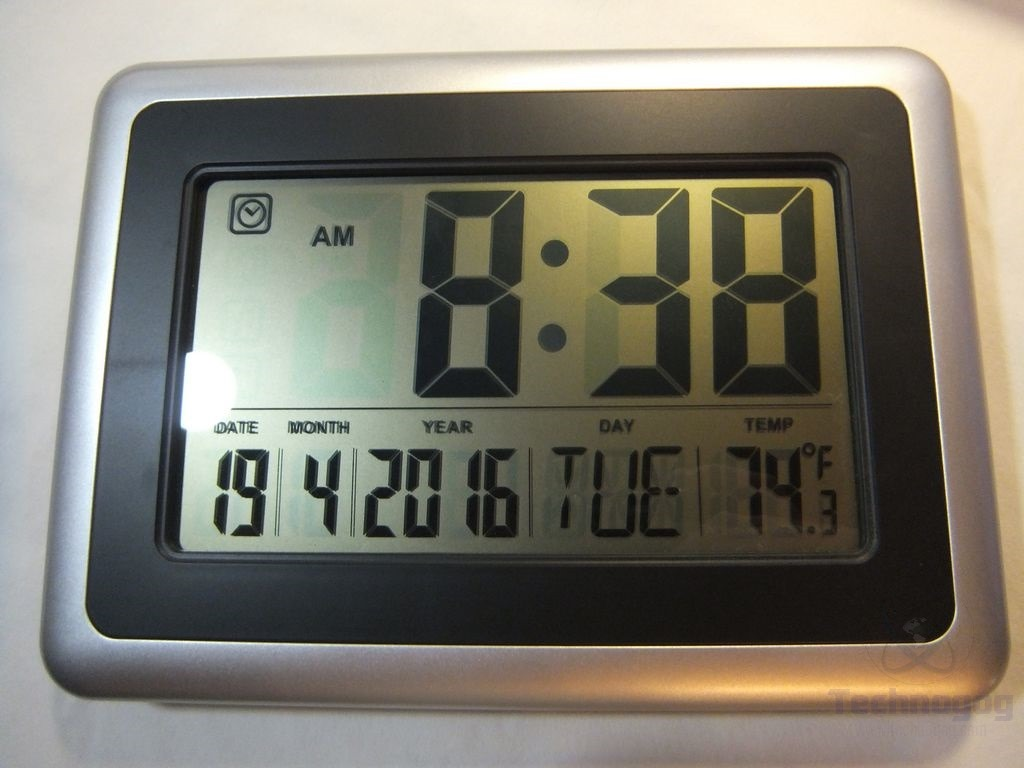 Review of hippih 10 extra large digital calendar day clock technogog - Extra large digital wall clock ...