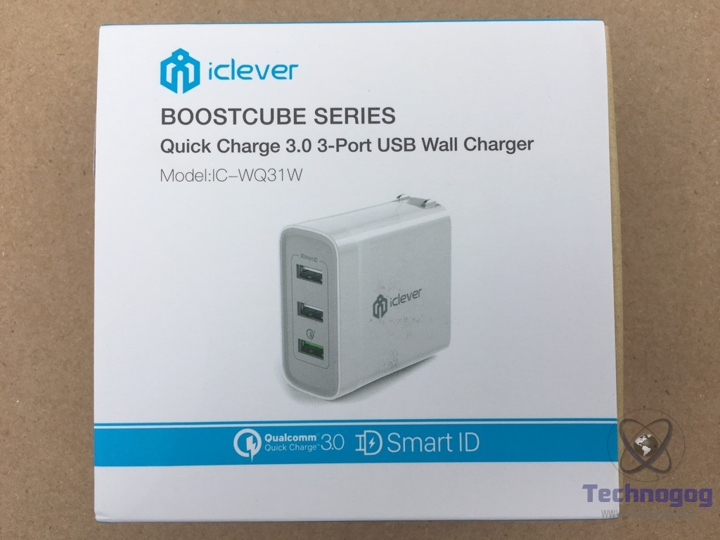 Review Of Iclever Boostcube 3 Port Wall Charger Technogog 2 Way Usb Switch Box On The Back We See Specifications Device Including Output Input Its Size And Weight Opening Discover