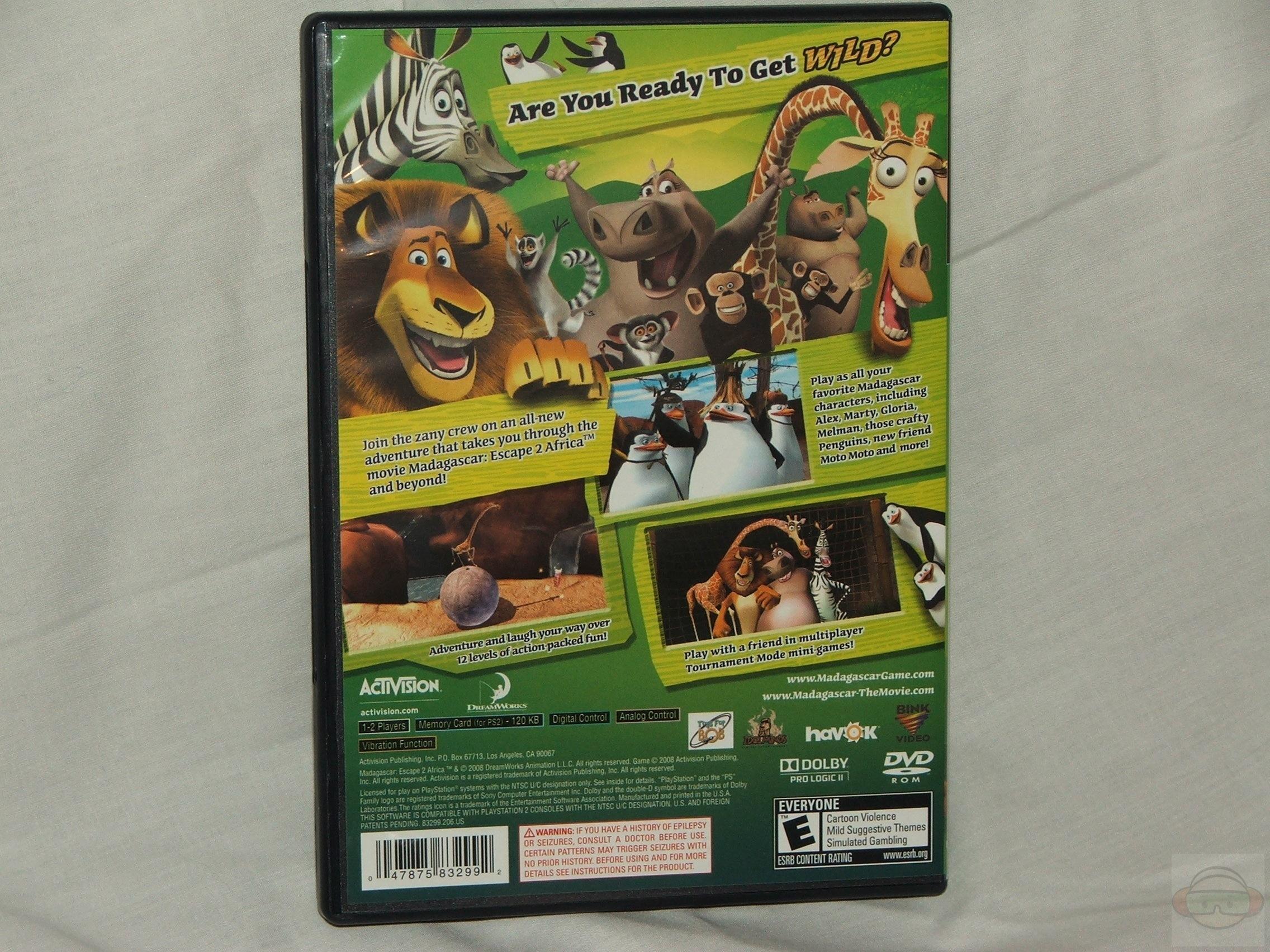 Madagascar 2 Escape 2 Africa Ps2 Technogog