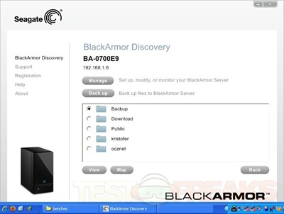 seagate blackarmor nas 440 backup software