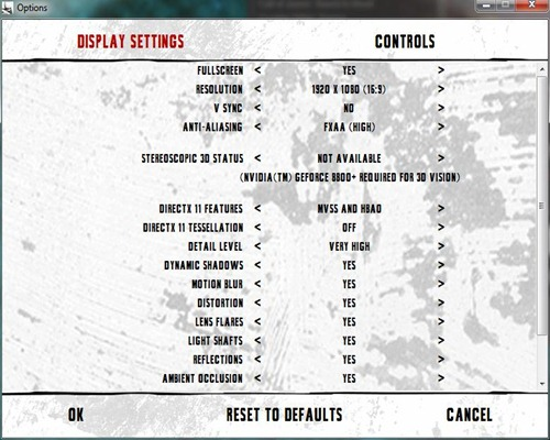 bman arkham city settings