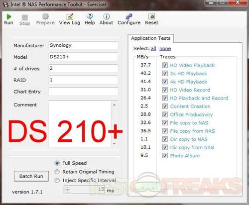 ds210 intel test
