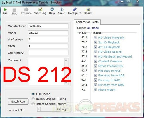 ds212 intel test