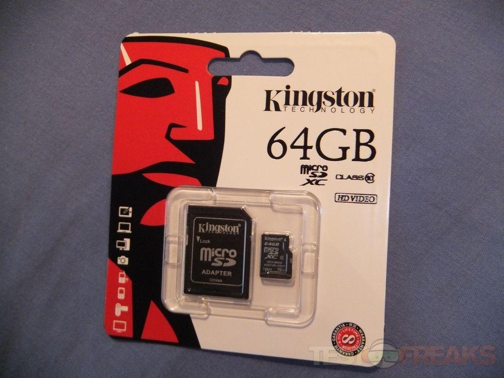 Review of Kingston 64GB microSDXC Class 10 Flash Card