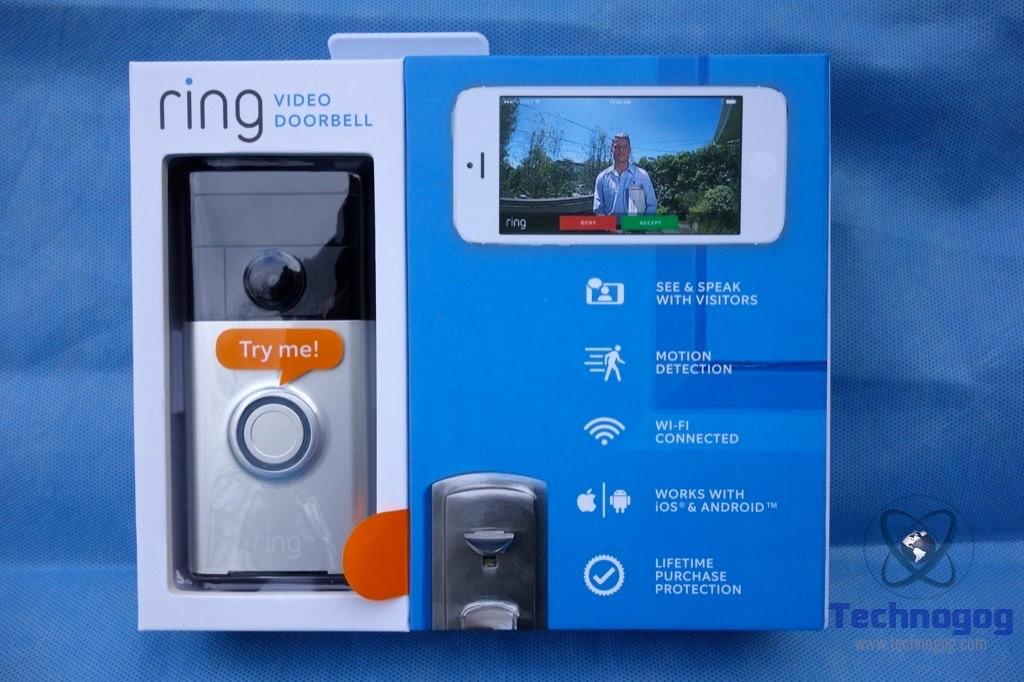 review of ring video doorbell technogog. Black Bedroom Furniture Sets. Home Design Ideas