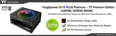 Thermaltake Announces Toughpower iRGB PLUS Platinum Series Power Supply Unit TT Premium Edition